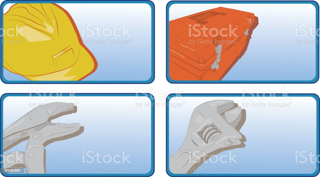 Service Industry Buttons royalty-free stock vector art