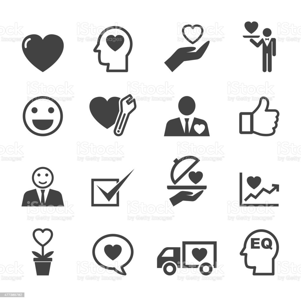 service mind icons vector art illustration