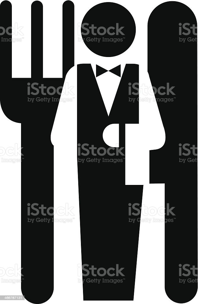 service restaurant or hotel vector art illustration