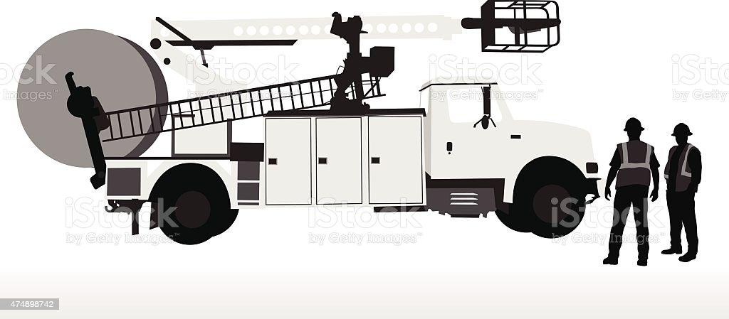 Service Truck vector art illustration