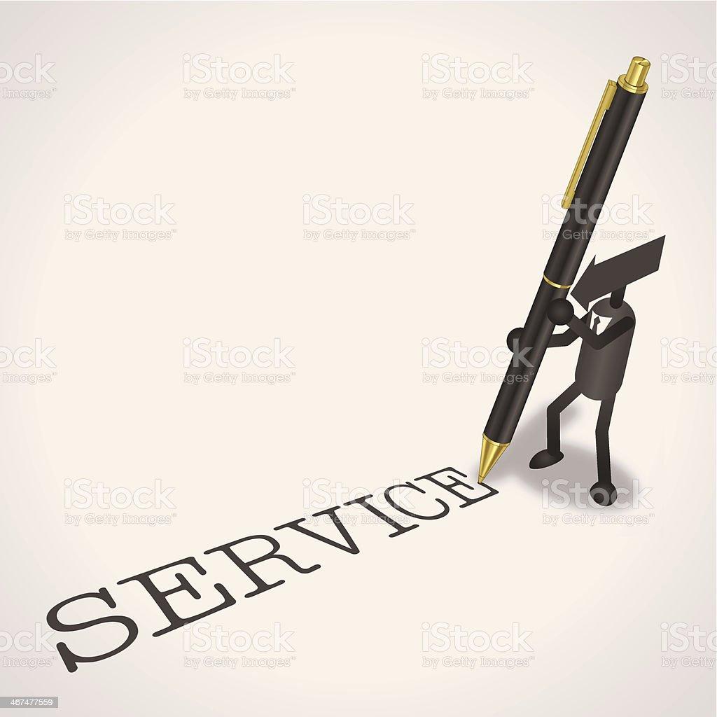Service royalty-free stock vector art