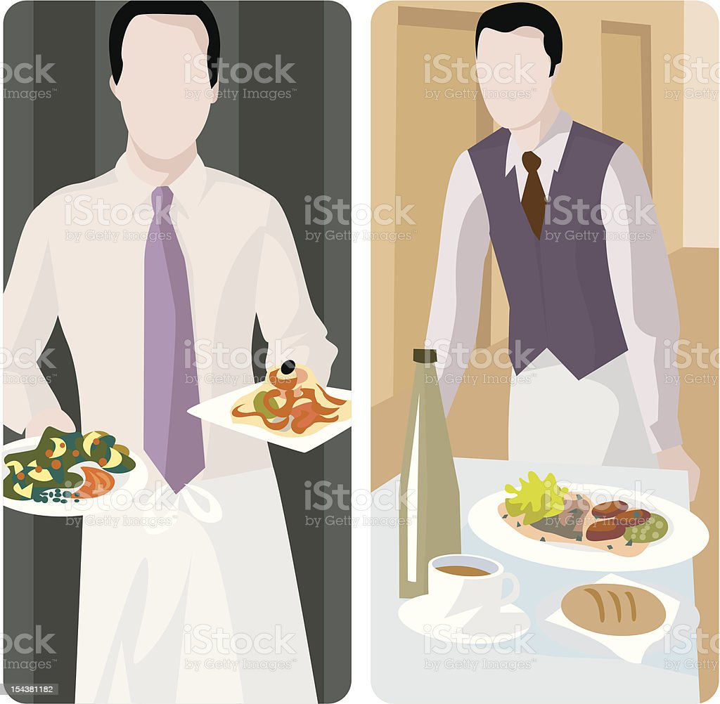 Service Worker Illustrations Series royalty-free stock vector art