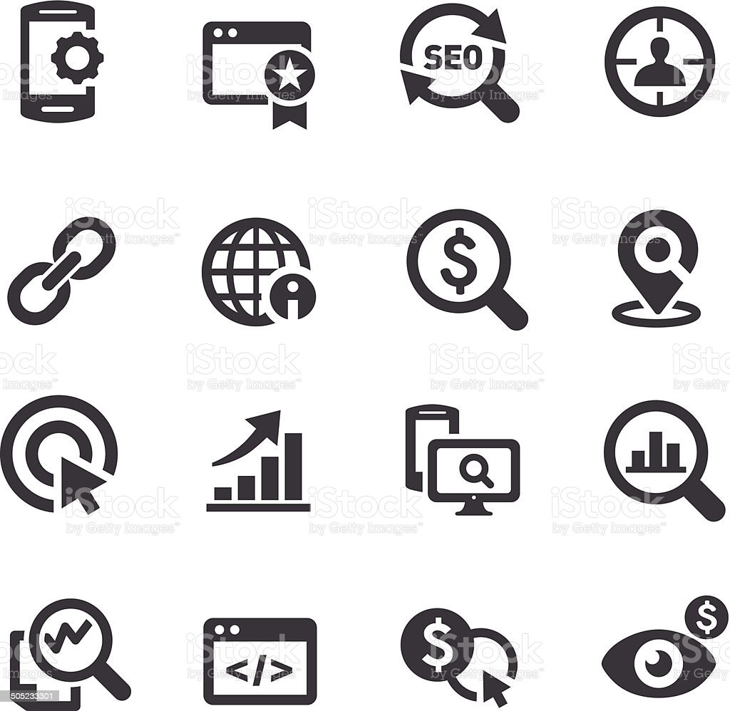 SEO Services Icons - Acme Series vector art illustration