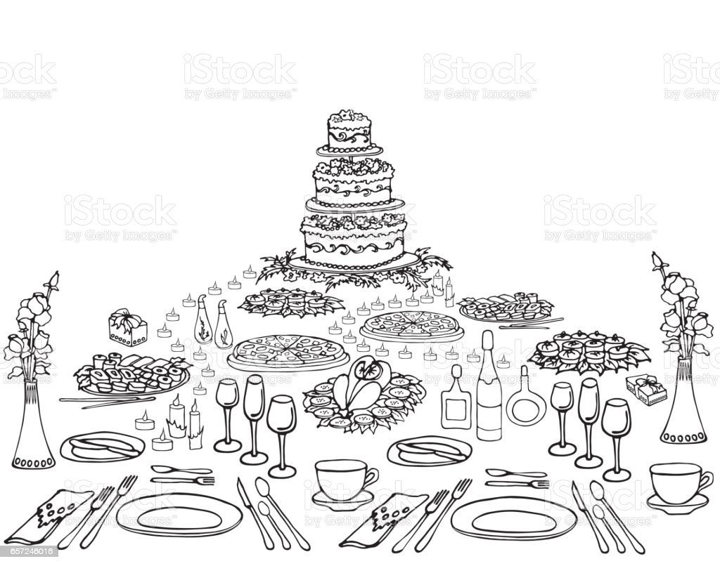 Serving a festive four vector art illustration