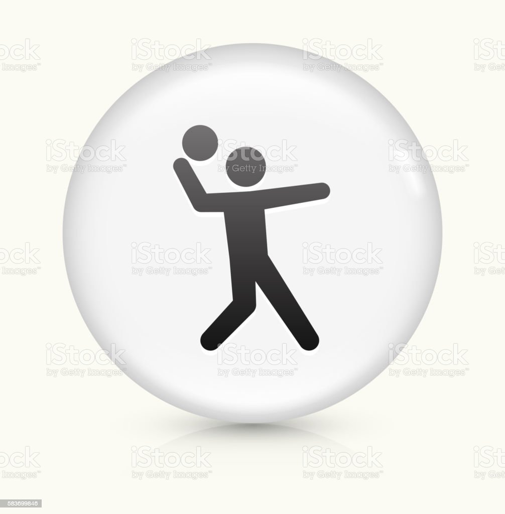 Serving icon on white round vector button vector art illustration