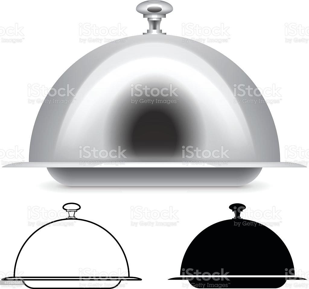 Serving platter vector art illustration