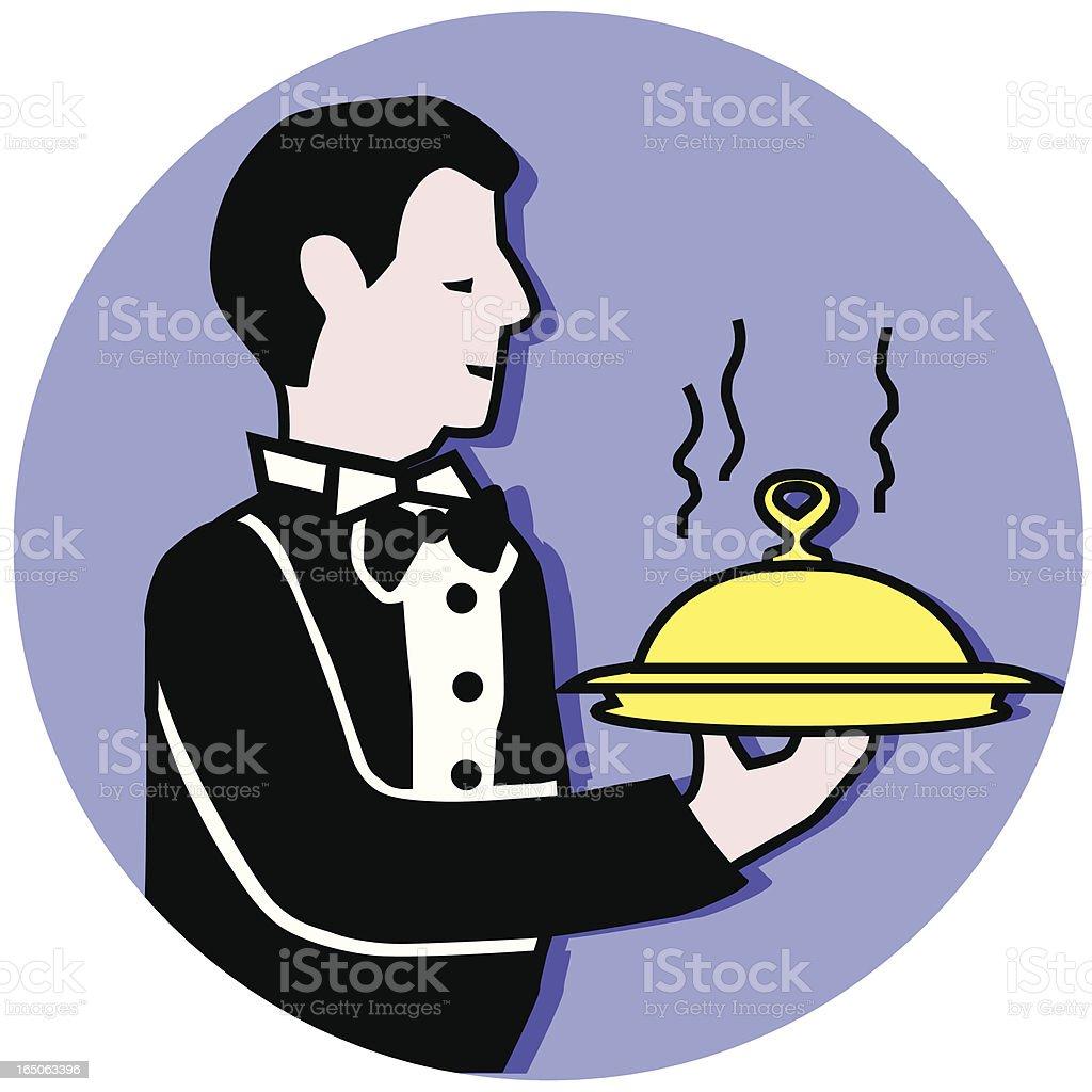 serving waiter royalty-free stock vector art