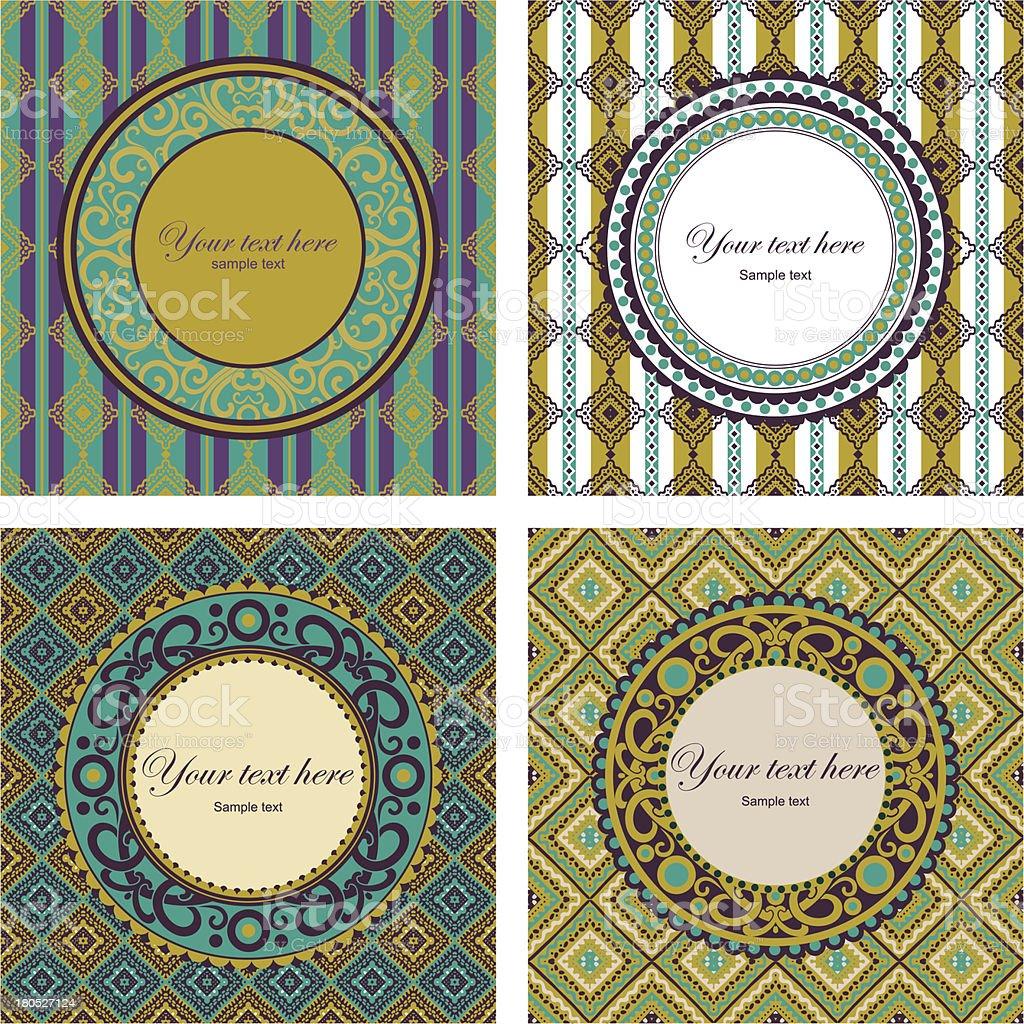 set 4 labels royalty-free stock vector art