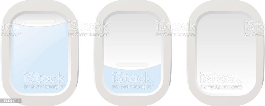 Set Airplane illuminators. Vector illustration vector art illustration