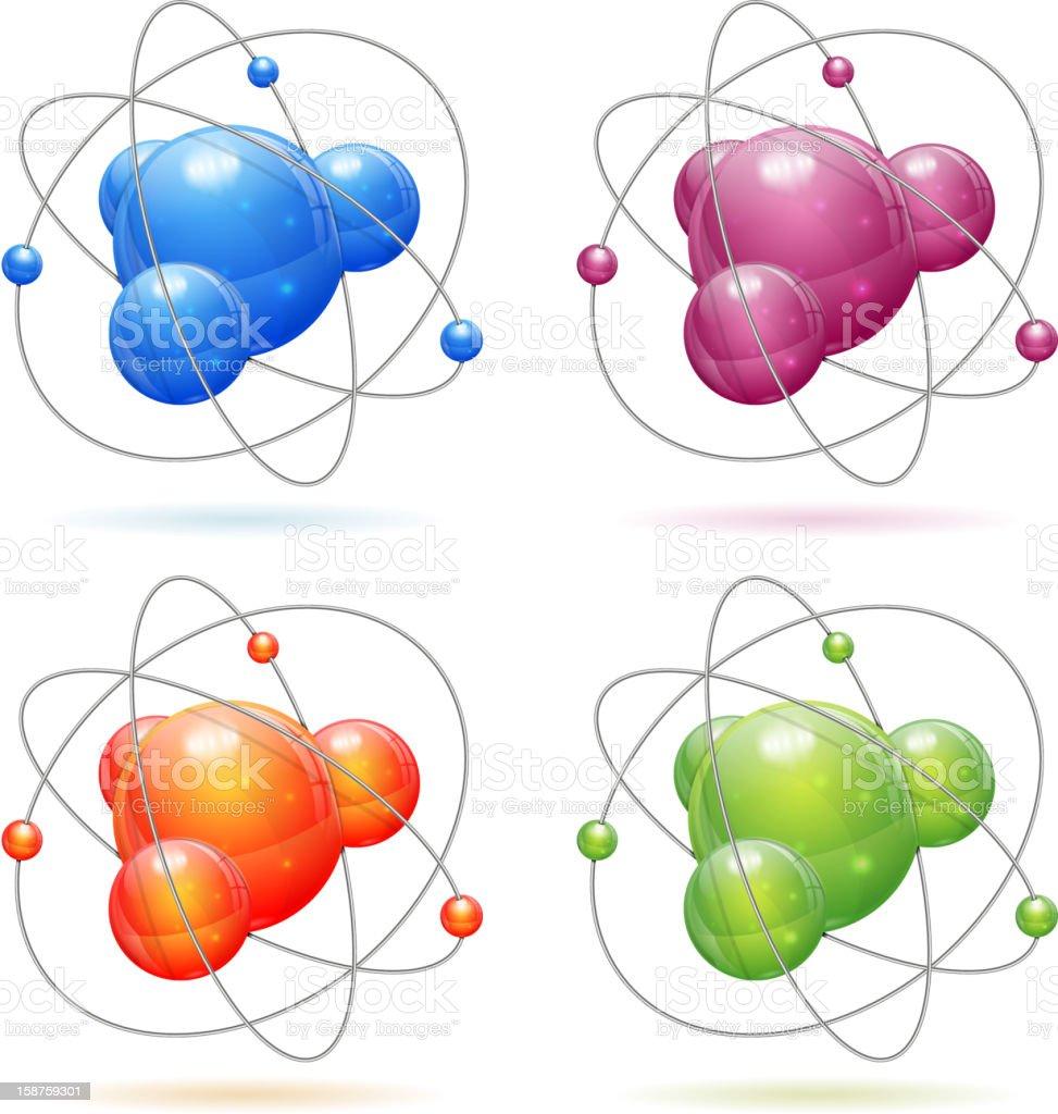 Set Atom Model royalty-free stock vector art