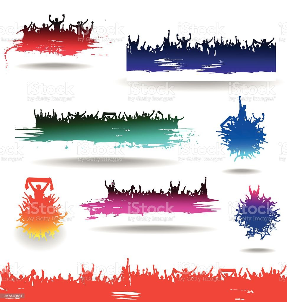 Set banners for sporting and concerts vector art illustration
