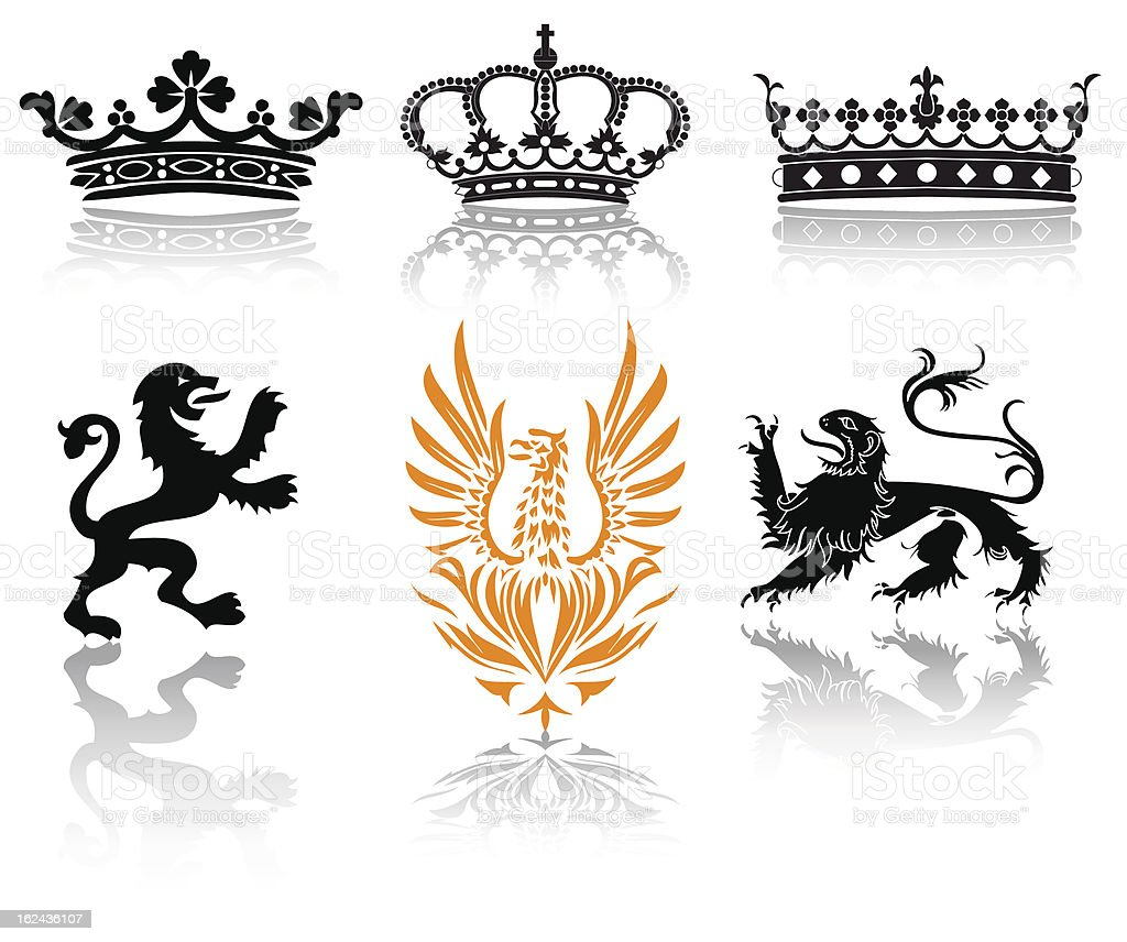 set baroque royalty-free stock vector art