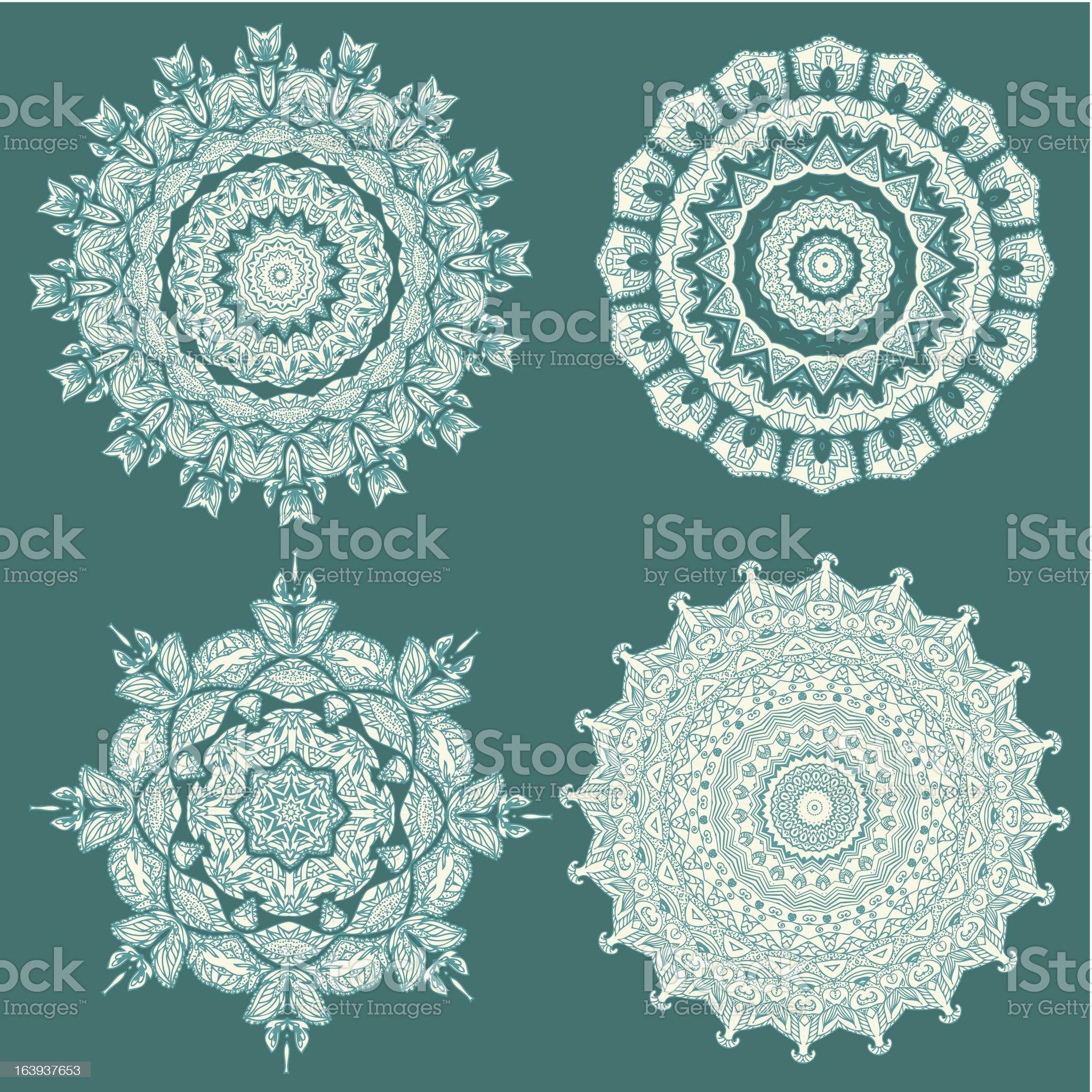 Set beautiful arabesques royalty-free stock vector art