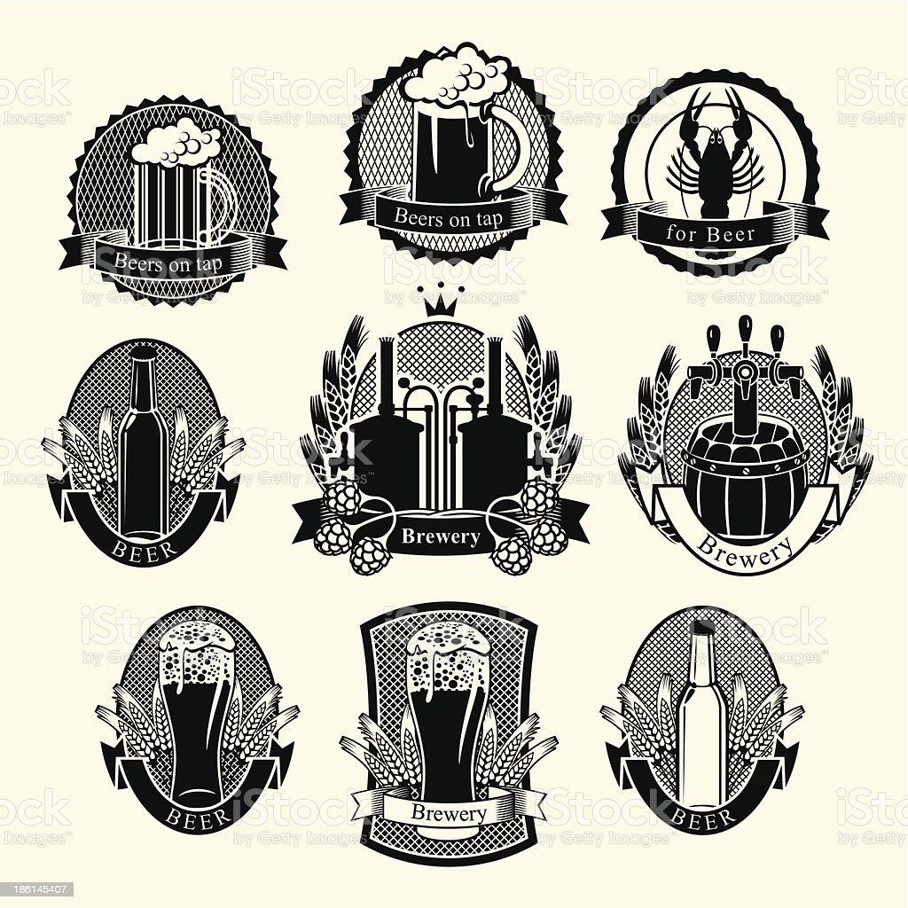 set Beer royalty-free stock vector art