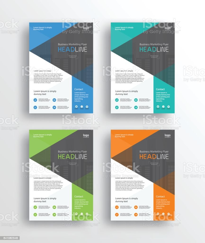 set business marketing flyer brochureposter and report design 1 credit
