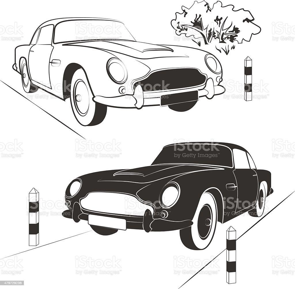 set cars vector art illustration