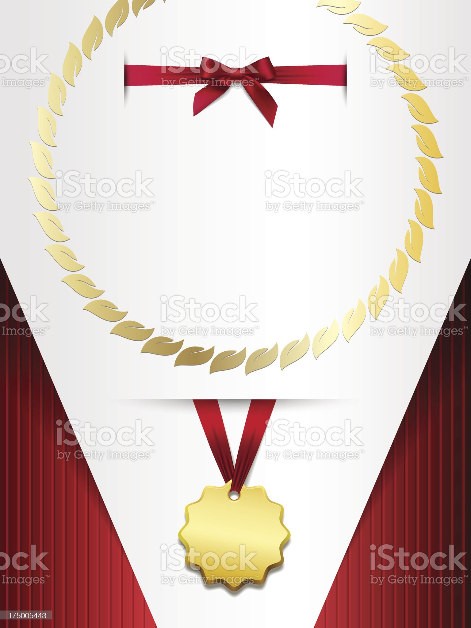 set Certificate with medal royalty-free stock vector art