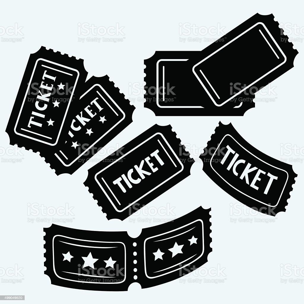 Set cinema tickets vector art illustration