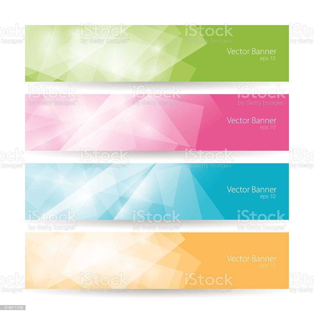 Set colorful polygonal banners , vector illustration vector art illustration