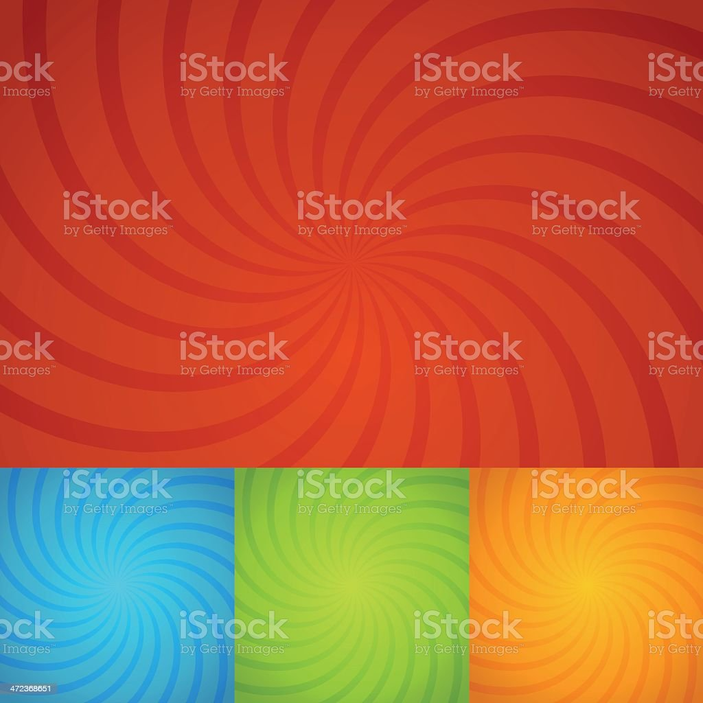 set colorful twirl background vector art illustration