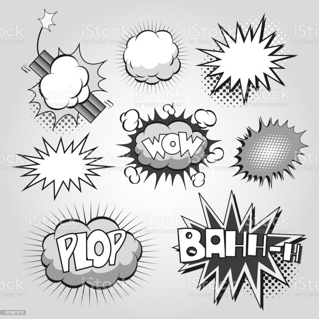 Set comic book elements royalty-free stock vector art