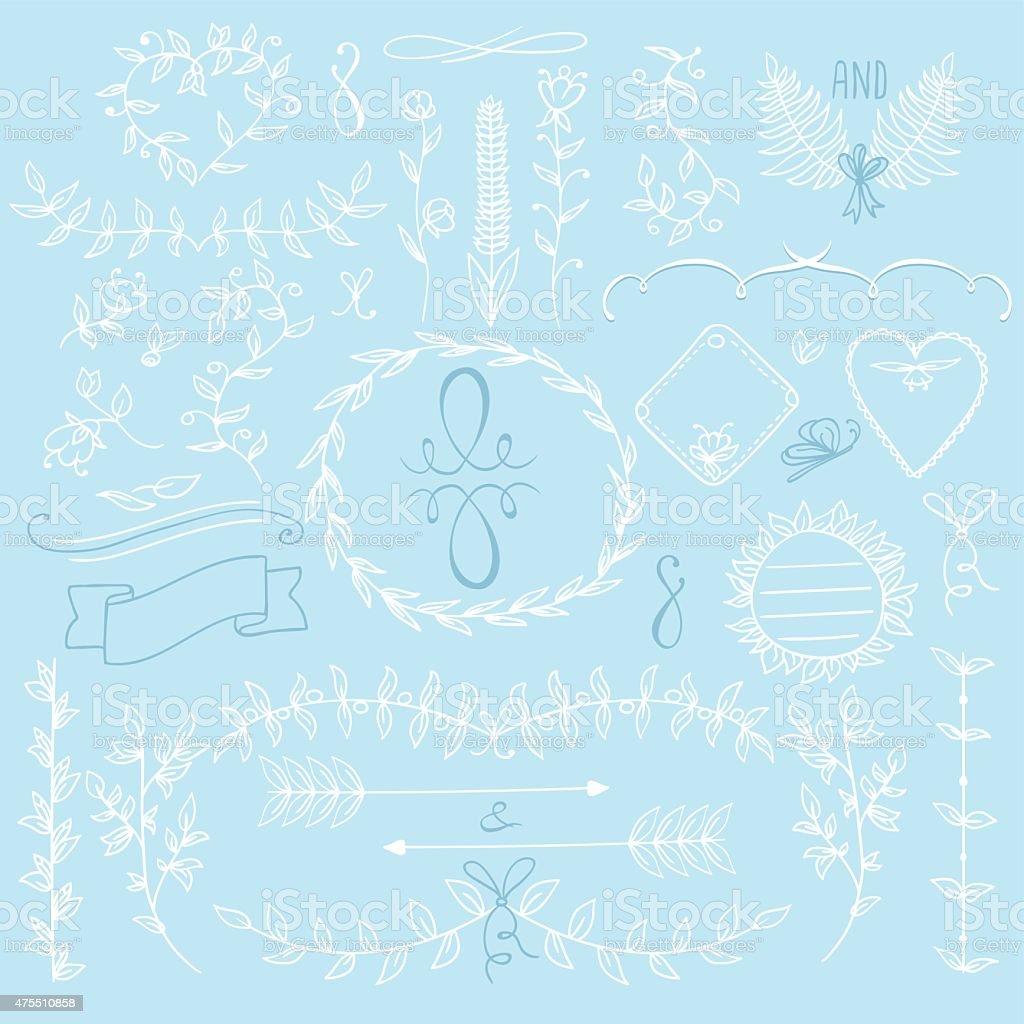 set decoration vector art illustration