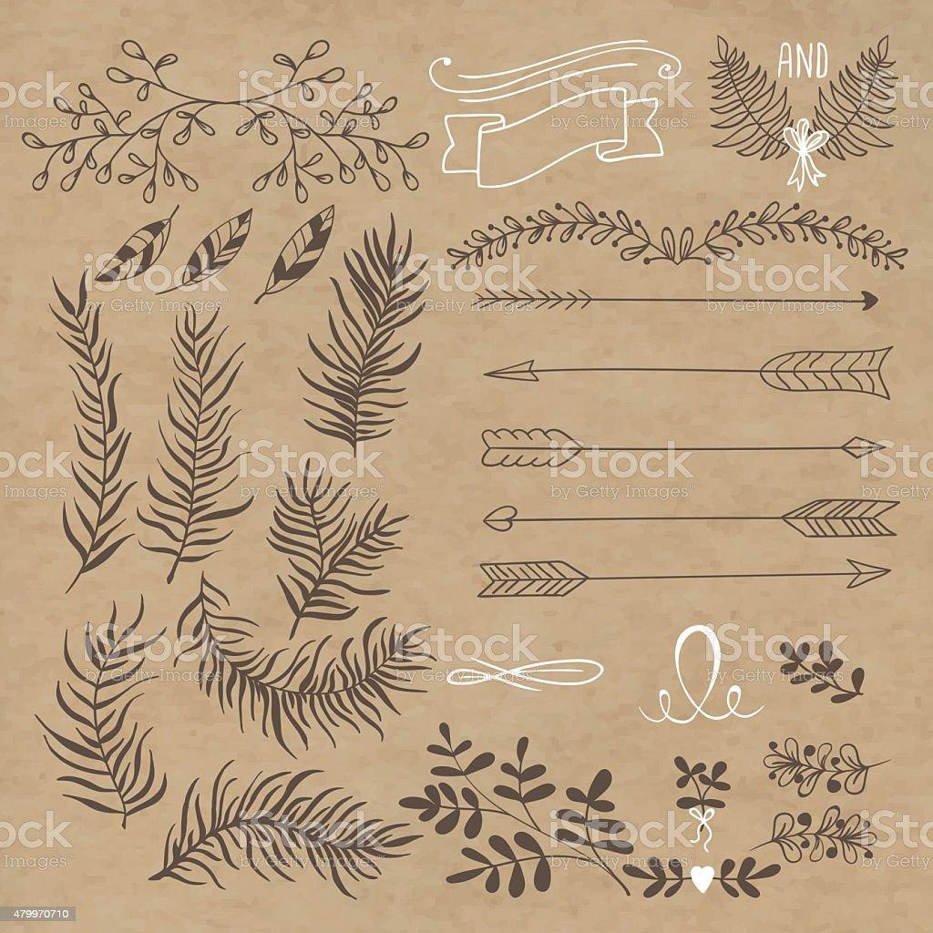set design vector art illustration