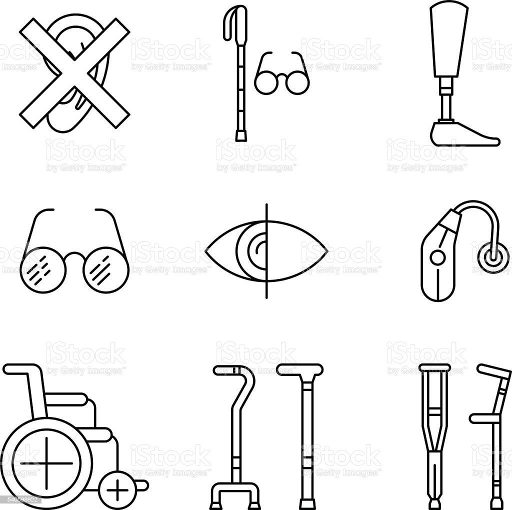set disabled icon vector art illustration