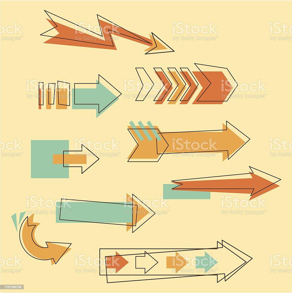 Set Doodle Arrows royalty-free stock vector art