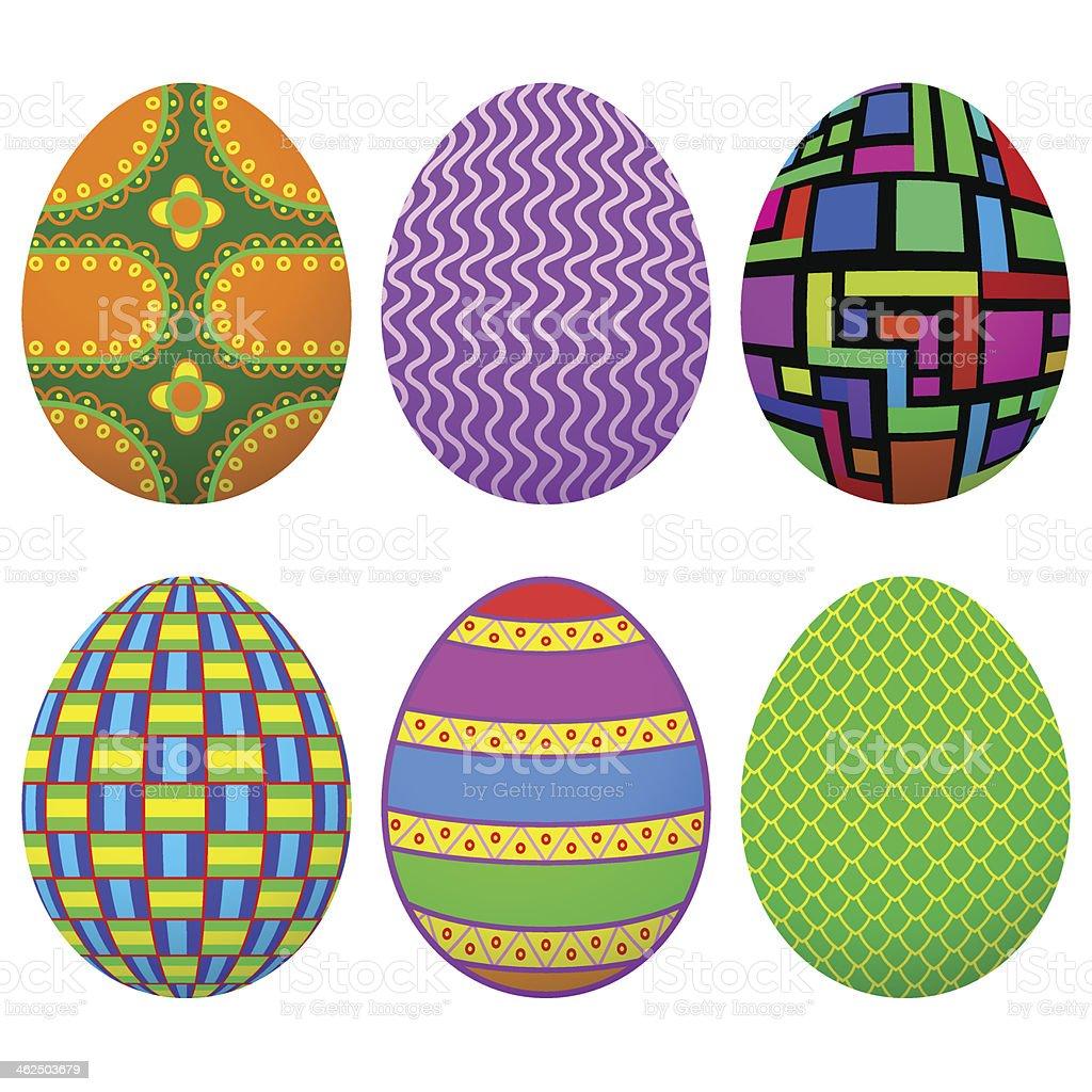 Set Easter Egg royalty-free stock vector art