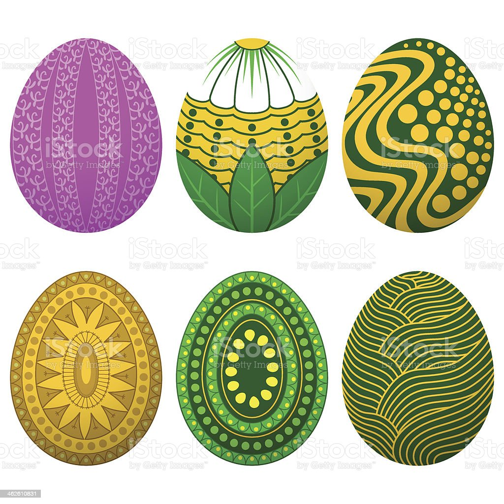Set Easter Egg royalty-free stock vector art