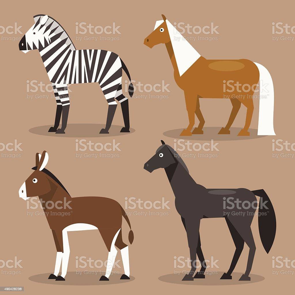 Set equines. Vector Illustration vector art illustration