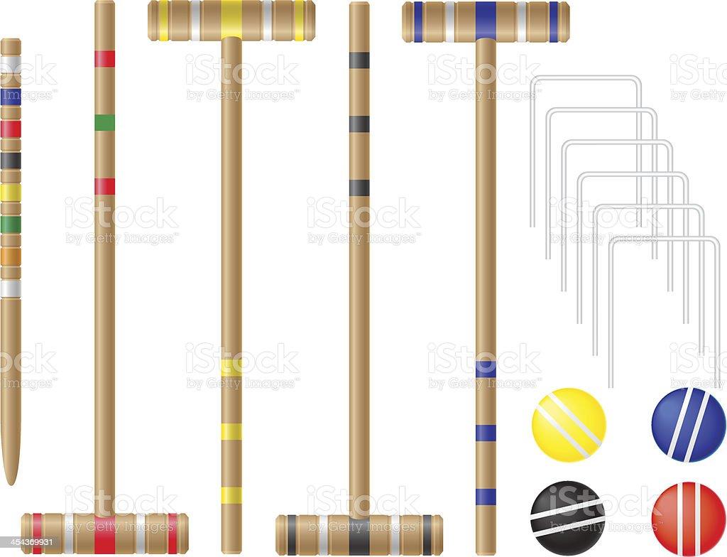 set equipment for croquet vector illustration royalty-free stock vector art