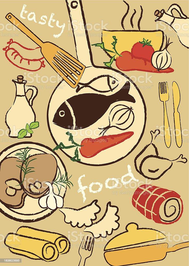 Set food, vector illustration royalty-free stock vector art