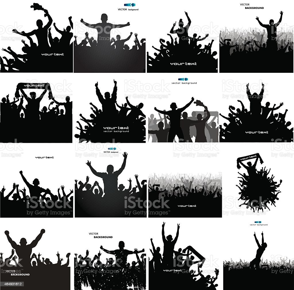 Set for sports and concerts vector art illustration