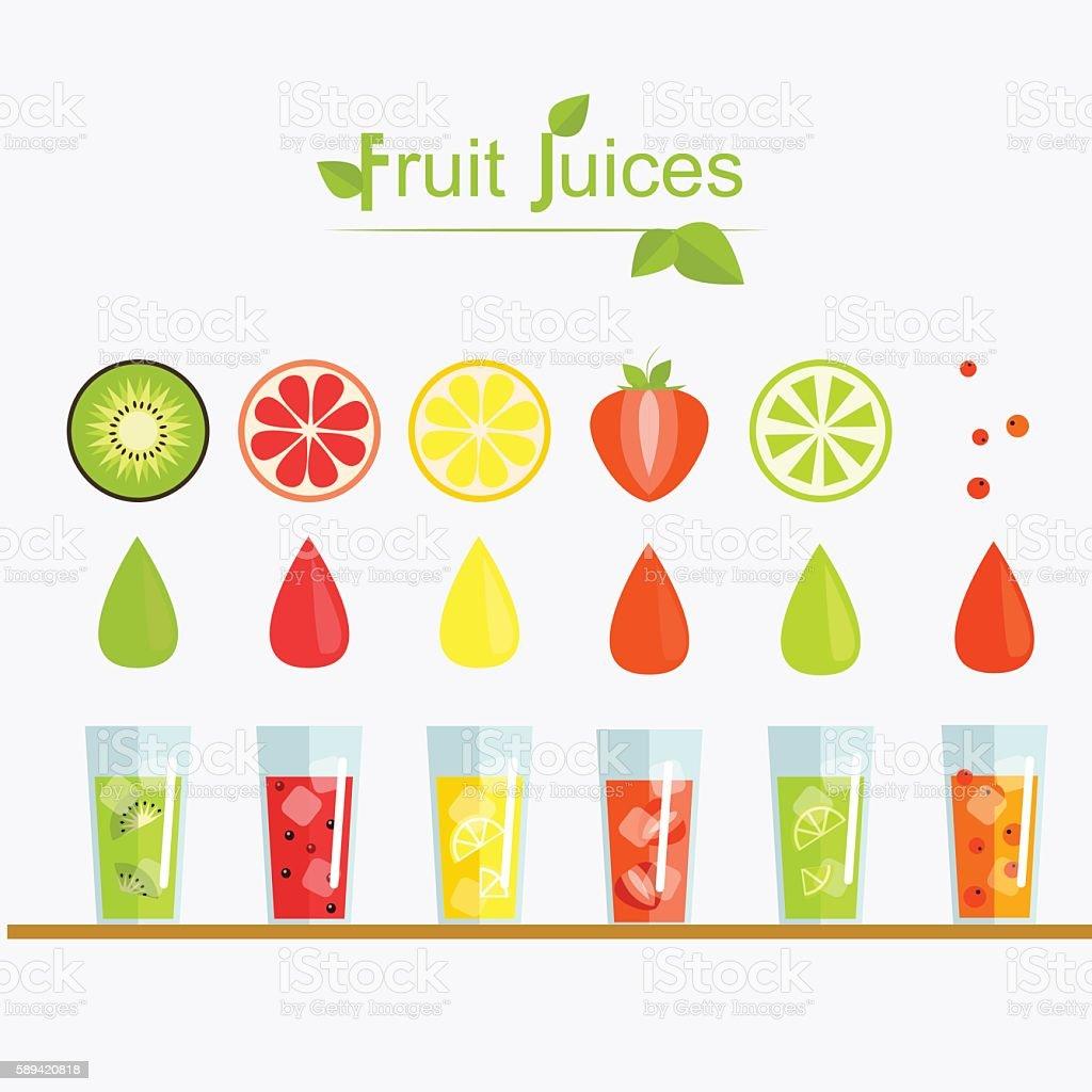 Set fruit cocktail. Fresh juice . vector illustration vector art illustration