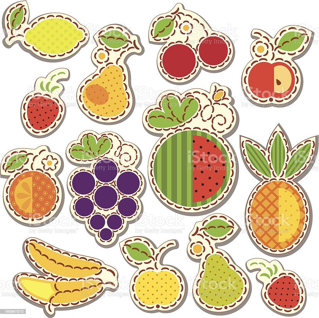 Set fruits royalty-free stock vector art