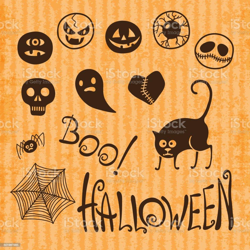 Set Happy Halloween! royalty-free stock vector art