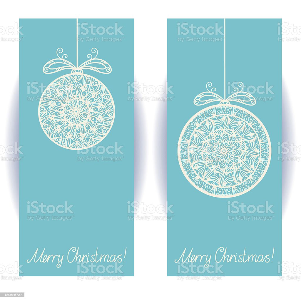 Set holiday Merry Christmas banners royalty-free stock vector art