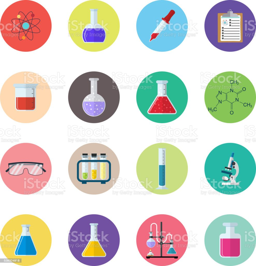 Set icon chemicals vector art illustration