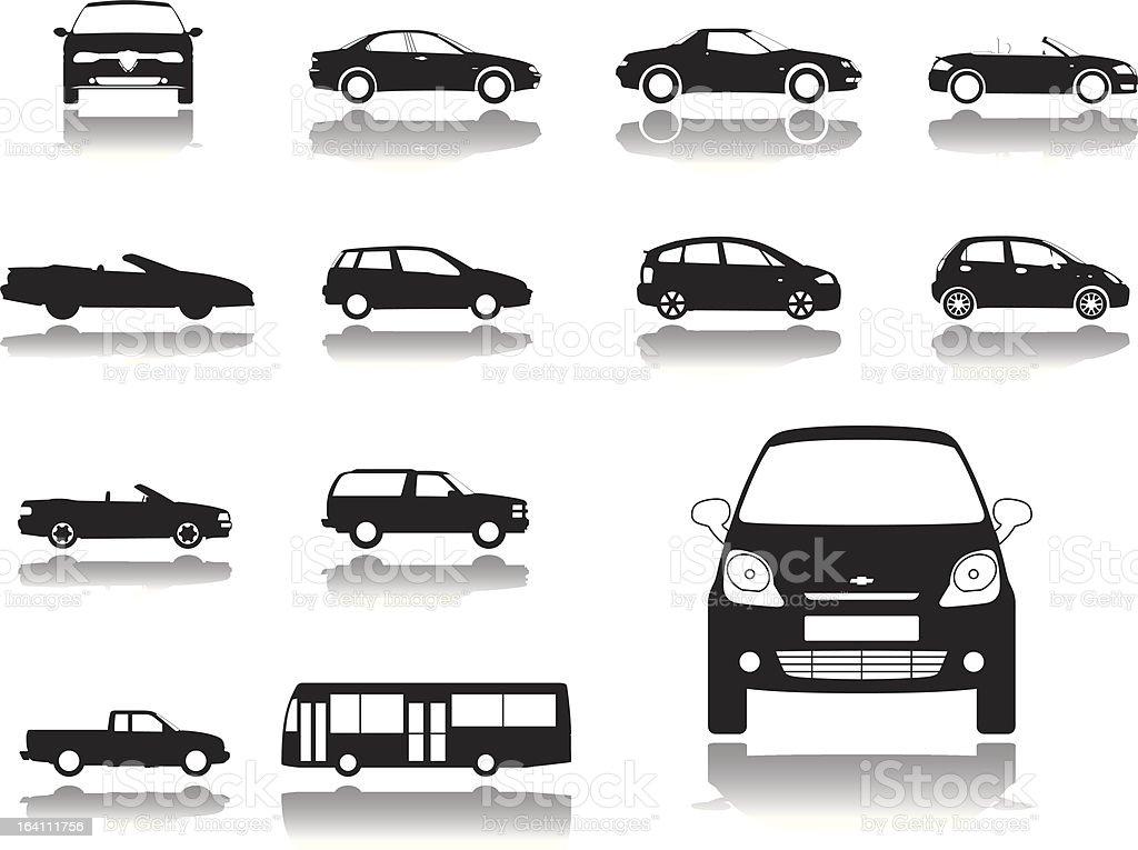 Set icons: Cars royalty-free stock vector art