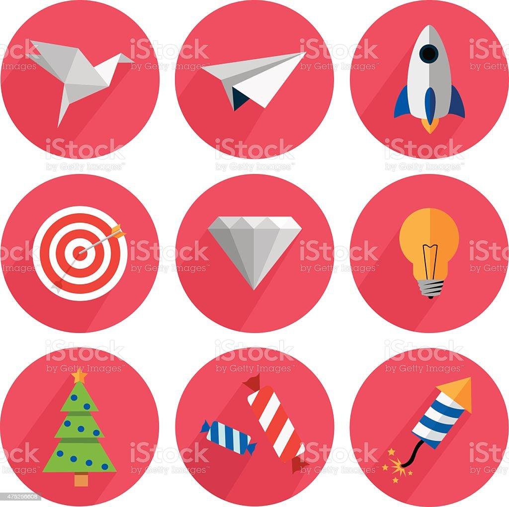 Série d'icônes, design plat pour le site stock vecteur libres de droits libre de droits