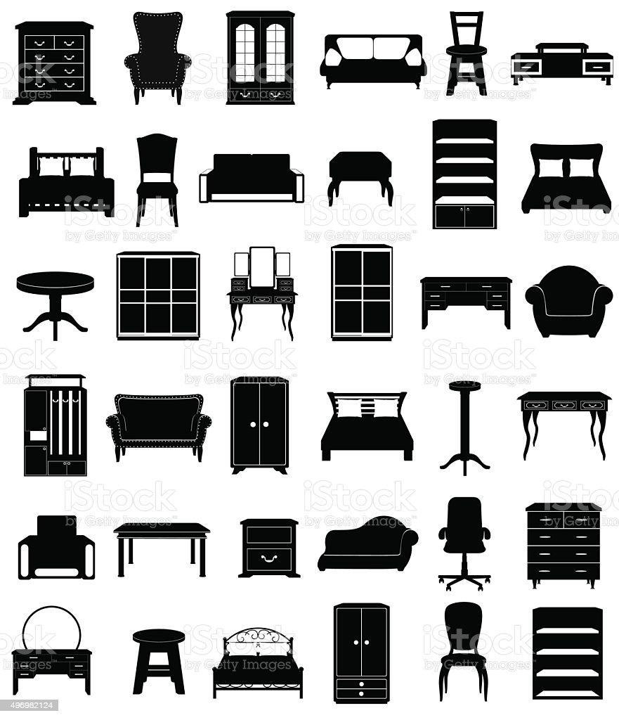 furniture icon clip art cliparts