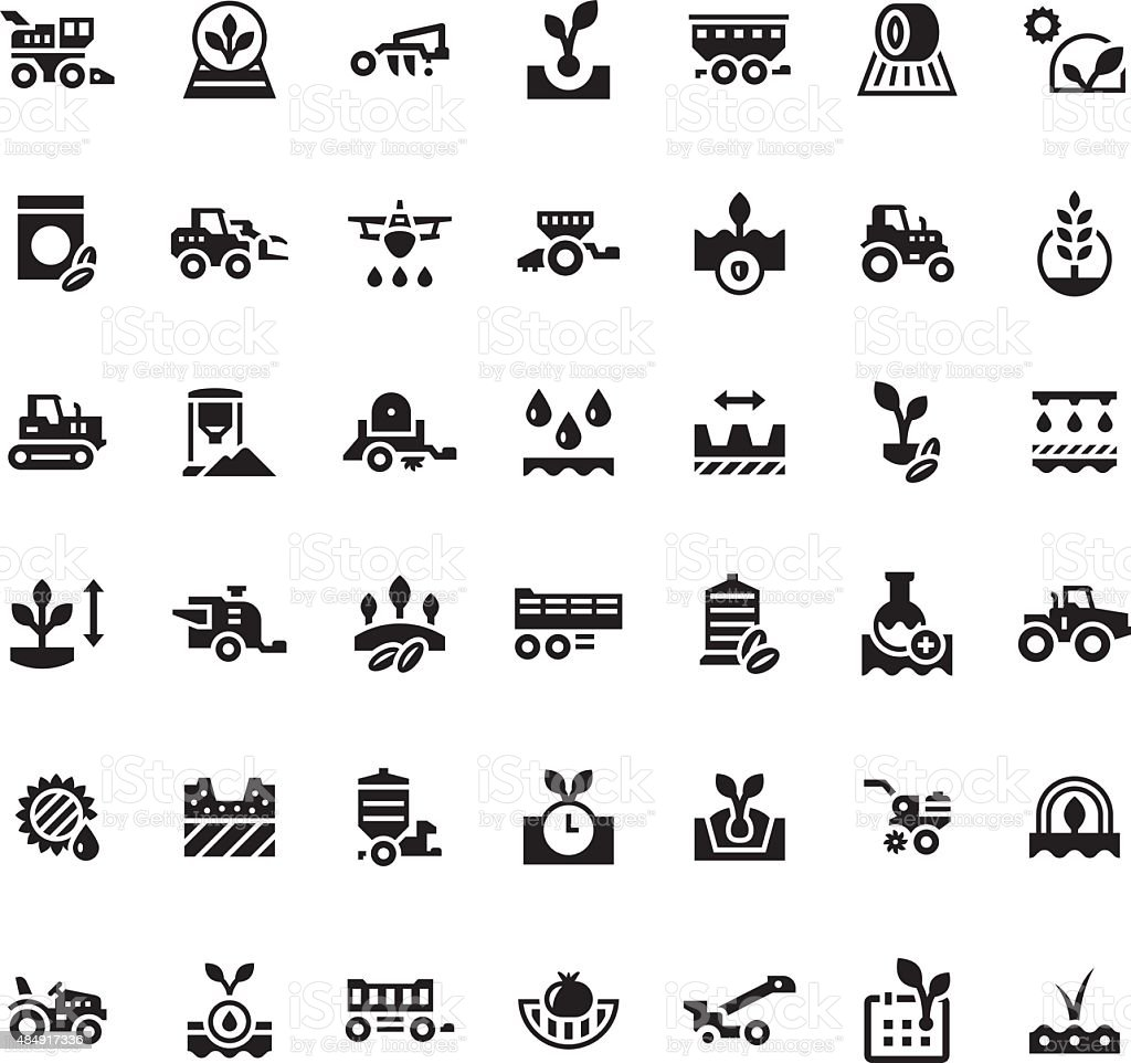 Set icons of agriculture vector art illustration