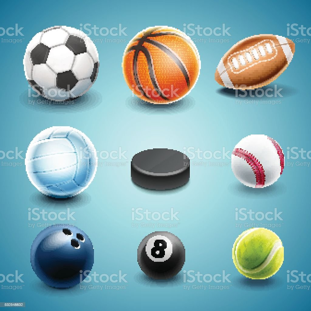 set icons sport vector art illustration