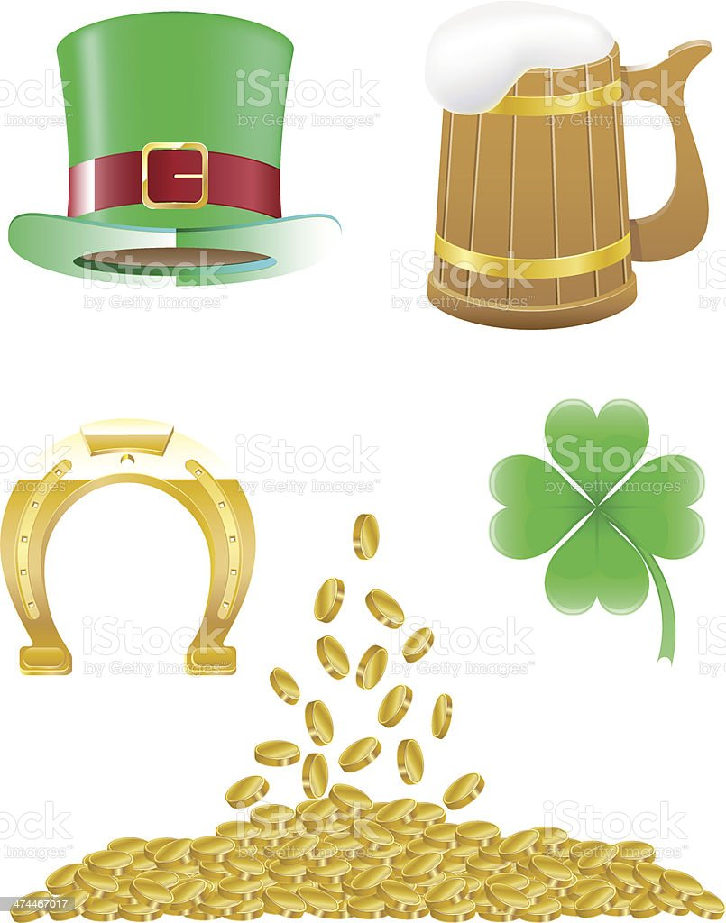 set icons St. Patrick`s day vector illustration royalty-free stock vector art