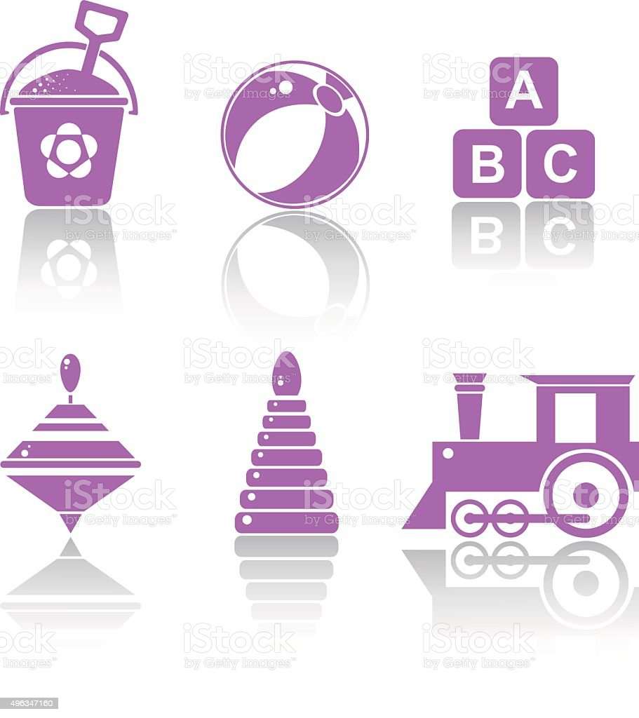 Set Icons toys vector art illustration