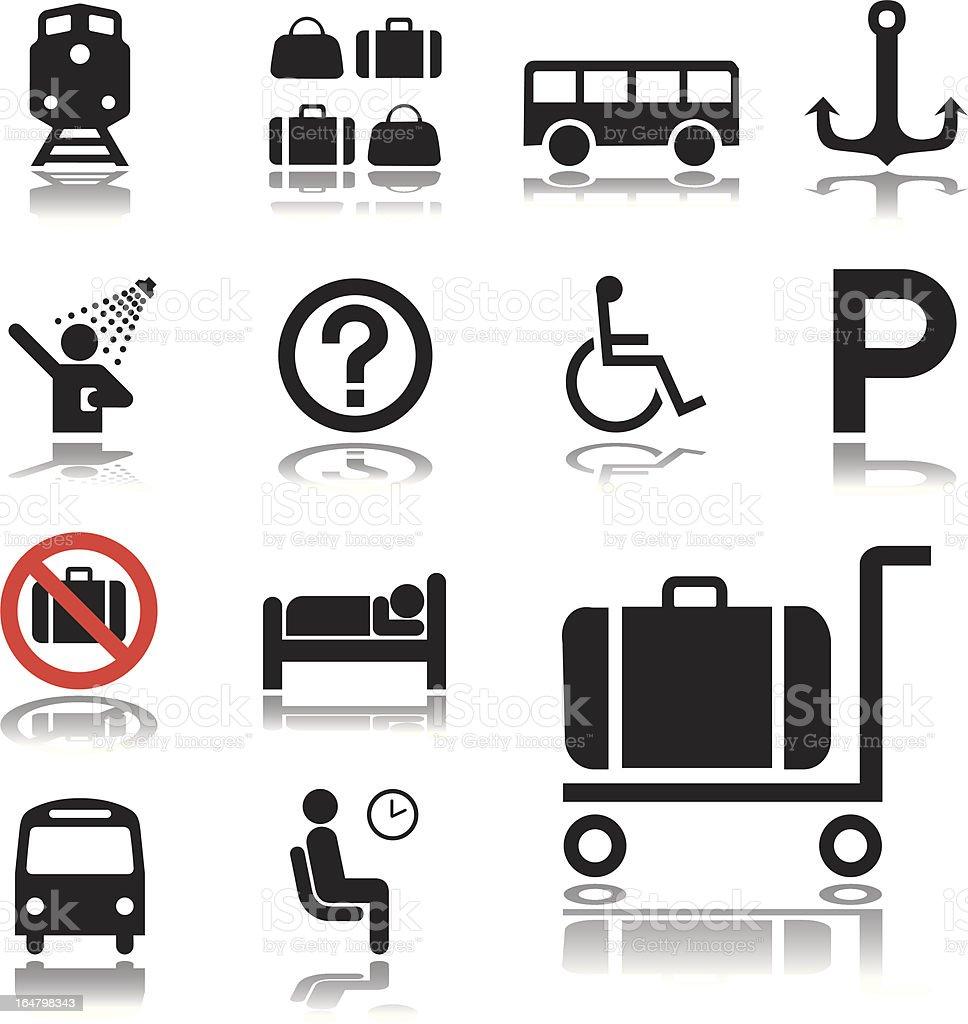 Set icons: Transport royalty-free stock vector art