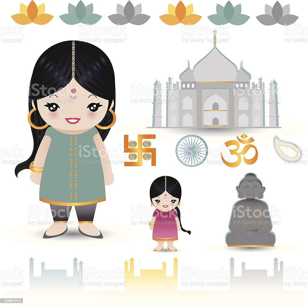 De la India illustracion libre de derechos libre de derechos