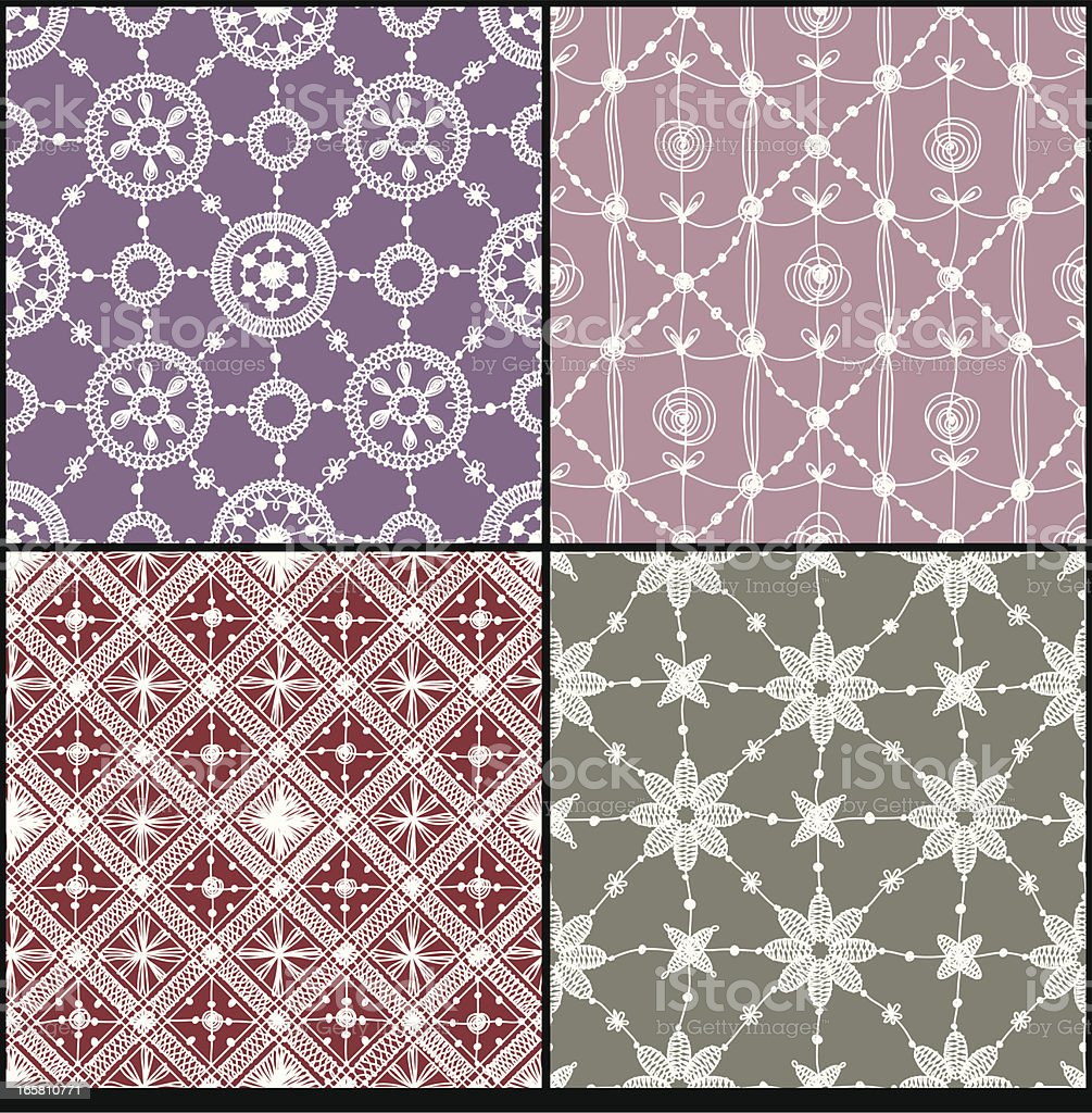 Set. Lace Seamless Pattern. royalty-free stock vector art